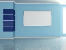 Modern huisbinnenland met het schilderen. 3D. Stock Foto's