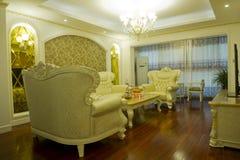 Modern huisbinnenland met meubilair Royalty-vrije Stock Foto