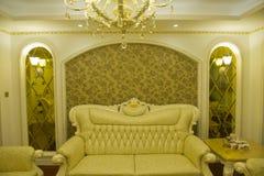 Modern huisbinnenland met meubilair Royalty-vrije Stock Foto's