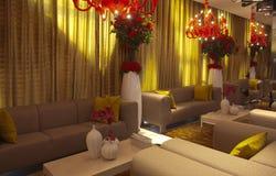 Modern huisbinnenland met meubilair Royalty-vrije Stock Fotografie