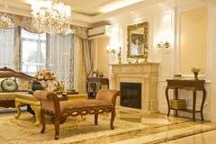 Modern huisbinnenland met meubilair Royalty-vrije Stock Afbeeldingen