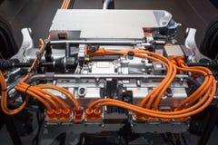 Modern hybrid transmission. Transmission of a modern plugin hybrid vehicle Stock Photo