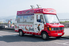 Modern Ice Cream Van Royalty Free Stock Photos