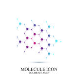 Modern icon dna and molecule. Vector template for medicine, science, technology , chemistry, biotechnology Royalty Free Stock Photos
