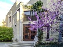 Modern iconic academic building of university of Western Ontario Stock Photos