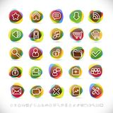Modern icons Stock Image