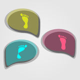 Modern icons set of pronation of the foot Royalty Free Stock Image