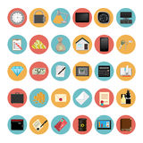 Modern Icons Set Vector Illustration Royalty Free Stock Image