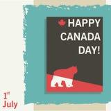 Modern idérik vektorillustration för affisch eller baner för den Kanada dagen royaltyfri illustrationer