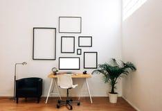Modern idérik workspace Royaltyfri Foto