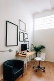 Modern idérik workspace Royaltyfria Foton