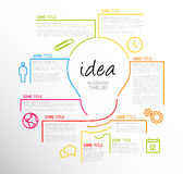 Modern idea Infographic template made from lines Royalty Free Stock Photo