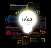 Modern idea Infographic template made from lines Royalty Free Stock Photography
