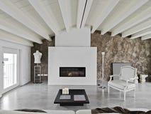 Modern iiving room Royalty Free Stock Image