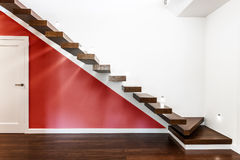 Modern illuminated stairs Royalty Free Stock Photo