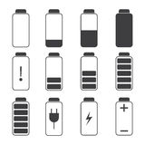 Modern  illustration of a battery charging symbols. Stock Image