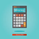 Modern  illustration of colorful electronic calculator Stock Photography