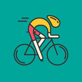 Modern Illustration of cyclist. Royalty Free Stock Photography
