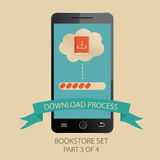 Modern  illustration of downloading process. Picture 3 of. Vector illustration of downloading process. Picture 3 of 4 Royalty Free Stock Photos