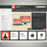 Modern illustration för vektor för WebsitemallEPS 10 Royaltyfria Foton