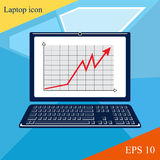 Modern illustration of laptop. Web site page. Modern illustration of laptop, computer, pc, wi-fi, mobile. Web site page. The modern concept of a business man Stock Images
