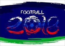 Vector illustration soccer ball 2018. spray paint royalty free illustration