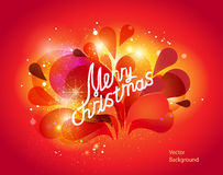 Modern illustration wit christmas lettering. Merry Christmas lettering, Christmas card. Vector background Stock Photography