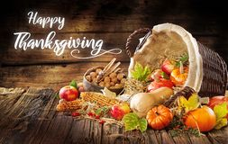 Modern Image of a Thanksgiving invitation royalty free stock photography