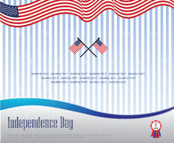 Modern independence day Stock Image