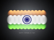 Modern Indian flag design Royalty Free Stock Photo