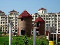Modern indisk arkitektur   Arkivbilder