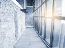 Modern indoor corridor Royalty Free Stock Images