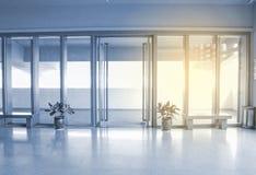 Modern indoor corridor Stock Photos