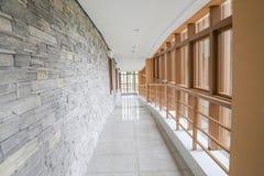 Modern indoor corridor Royalty Free Stock Photos