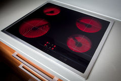 Modern induction hob Stock Image