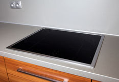 Modern induction hob stock images