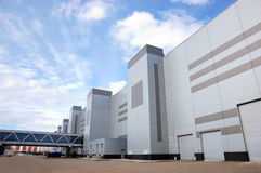 Modern industrial building stock photo