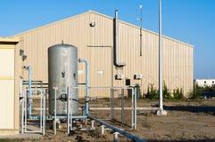 Modern industrial building. Industrial area. Modern industrial building and equipment Stock Photo