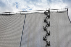 Modern industrial building exterior fire escape Royalty Free Stock Image