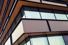 Modern industrial building facade wall Royalty Free Stock Images