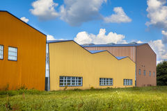 Modern industrial buildings in a newly devoloped commercial area Stock Photos