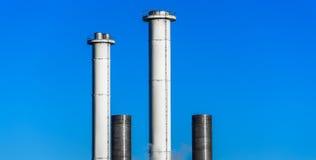 Modern Industrial Chimneys Royalty Free Stock Image