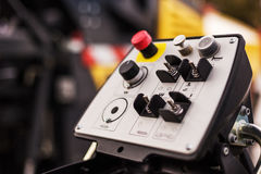 Modern industrial control panel of a machine Stock Photography