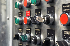 Modern industrial control panel. Royalty Free Stock Photography