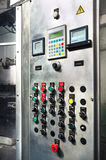 Modern industrial control panel. Stock Photo