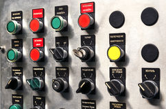 Modern industrial control panel. Royalty Free Stock Image