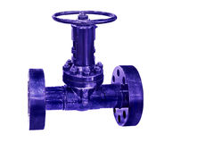 Modern industrial control valve closeup isolated on white background. Modern compact locking devices ensure reliable operation of the various systems of Royalty Free Stock Photo