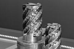 Modern industrial cutters. Cutting tools royalty free stock photography