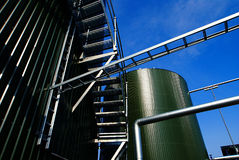 Modern industrial factory against blue sky Royalty Free Stock Images