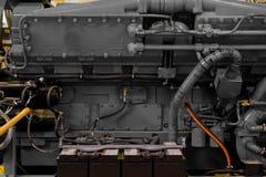 Modern industrial generator. Closeup in black Royalty Free Stock Photo